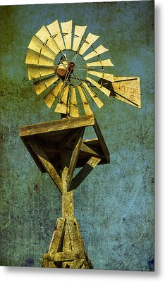 Windmill Abstract Metal Print by Garry Gay
