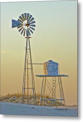 Windmill At Dawn 2011 Metal Print