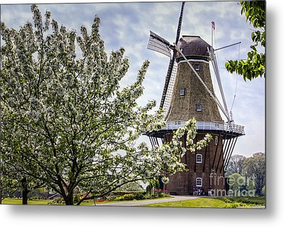 Windmill At Windmill Gardens Holland Metal Print