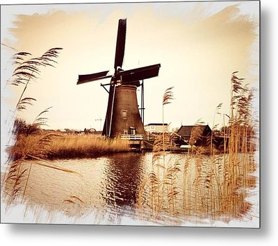 Windmill Metal Print by Beril Sirmacek