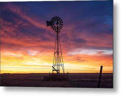 Windmill Dressed Up Metal Print by Shirley Heier