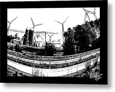 Windmill Farm Metal Print by Gerry Robins