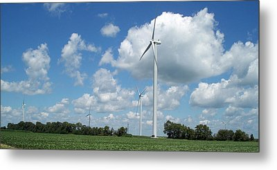 Metal Print featuring the photograph Windmill by John Mathews