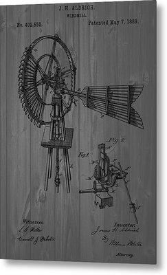 Windmill Patent Barn Wall Metal Print by Dan Sproul