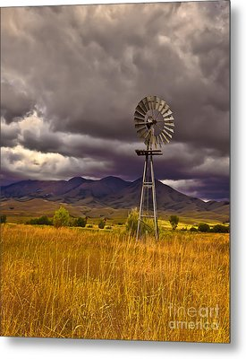 Windmill Metal Print by Robert Bales