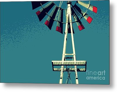 Metal Print featuring the digital art Windmill by Valerie Reeves