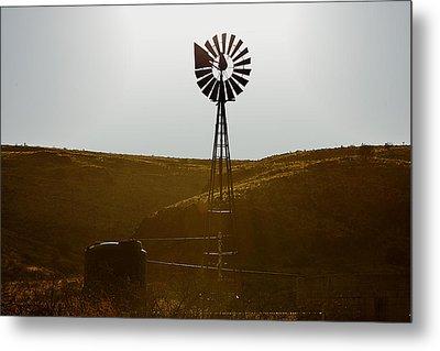 Windmill Water Pump Texas Metal Print by Christine Till