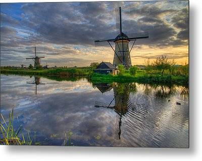 Windmills Metal Print by Chad Dutson