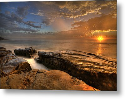Windnsea Gold Metal Print by Peter Tellone