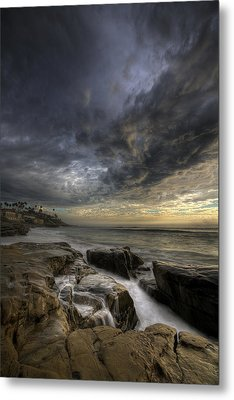 Windnsea Light Found Metal Print by Peter Tellone