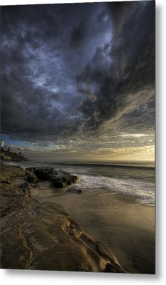 Windnsea Stormy Sky Metal Print by Peter Tellone