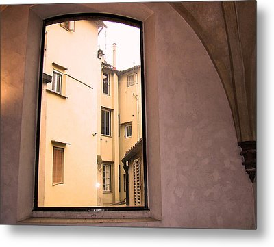 Window And Arch Metal Print