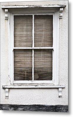 Window And Blind Metal Print by Tom Gowanlock