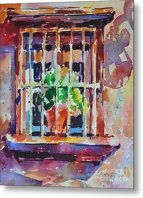 Metal Print featuring the painting Window And Cast Shadow by Roger Parent