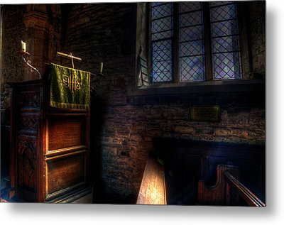 Window And Pulpit Metal Print