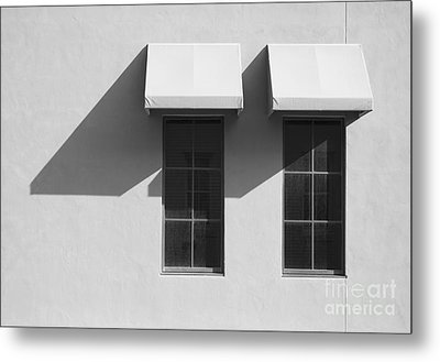 Window Awnings Shadows Metal Print