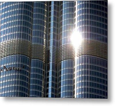 Metal Print featuring the photograph Window Cleaners Burj Khalifa by Henry Kowalski