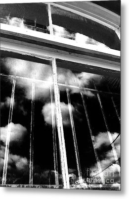 Window Clouds Metal Print
