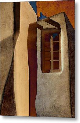 Window De Santa Fe Metal Print by Carol Leigh