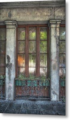 Window In The Quarter Metal Print by Brenda Bryant