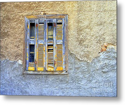 Window Nafplio Metal Print