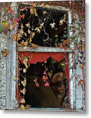 Metal Print featuring the photograph Window Of A Time Gone By by Ellen Tully