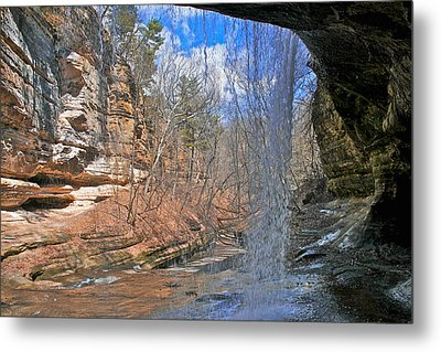 Metal Print featuring the photograph Window Of A Waterfall by Kathleen Scanlan
