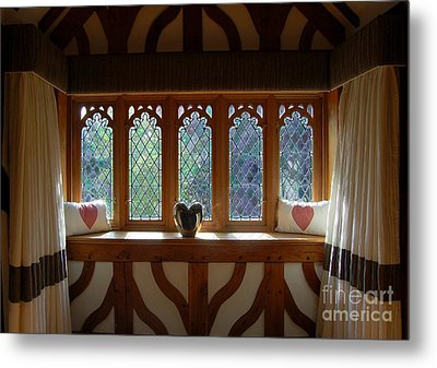 Window Of Hearts Metal Print by Linda Prewer