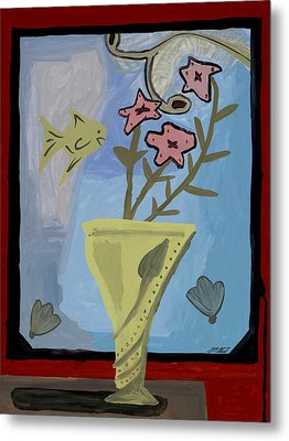 Metal Print featuring the painting Window Of Wonders by Artists With Autism Inc