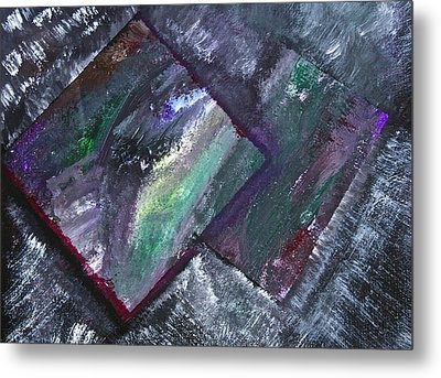 Metal Print featuring the painting Window Pain by Tracey Myers