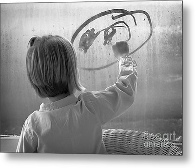 Window Painting Metal Print