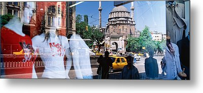 Window Reflection, Istanbul, Turkey Metal Print by Panoramic Images