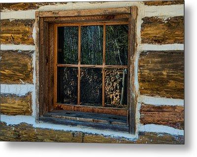 Window Reflection Metal Print by Paul Freidlund