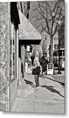 Window Shopping In Lancaster Metal Print by Trish Tritz