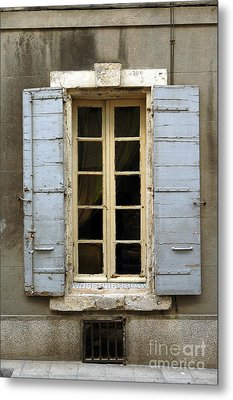 Window Shutters In Europe Metal Print