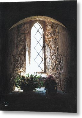 Window Solitude Metal Print by Darren Baker