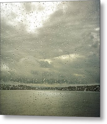 Metal Print featuring the photograph Window Tears by Sally Banfill