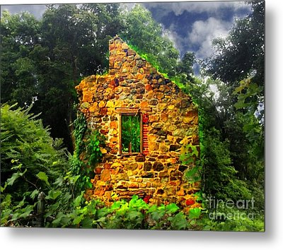Window To Her Soul Metal Print by Becky Lupe