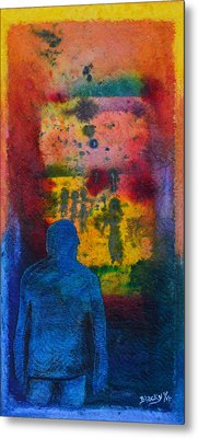 Window To The Other Side Metal Print by Donna Blackhall