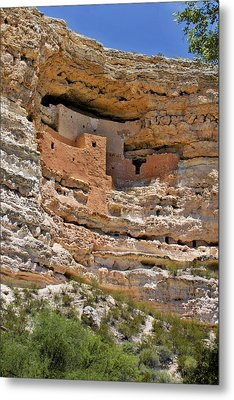Window To The Past - Montezuma Castle Metal Print by Christine Till