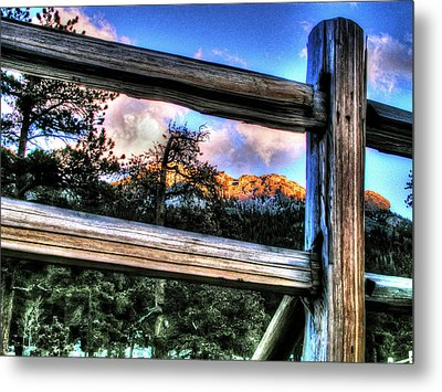 Window To Twin Sisters Metal Print by Craig T Burgwardt