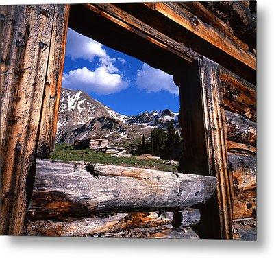 Window View Metal Print by Ray Mathis