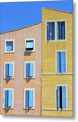 Metal Print featuring the photograph Windows Martigues Provence France by Dave Mills