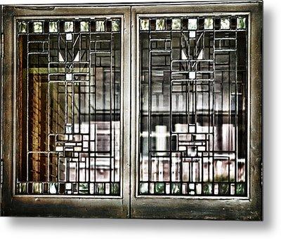 Windows Of A Prairie House  Metal Print