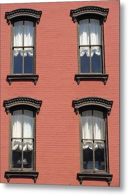 Metal Print featuring the photograph Window's Of Hudson Ny by Ira Shander