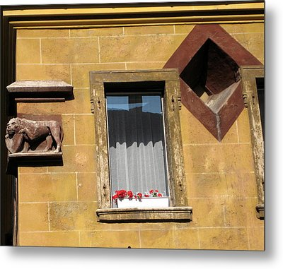 Windows To Budapest Metal Print