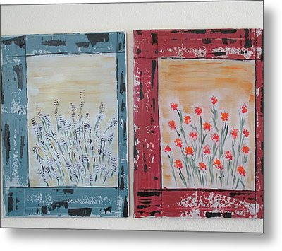 Metal Print featuring the painting Windows To The Basques by Sharyn Winters