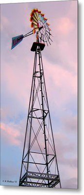 Metal Print featuring the photograph Windpump by Brian Wallace