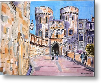 Metal Print featuring the painting Windsor Castle by Geeta Biswas