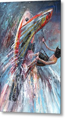 Windsurf 03 Metal Print by Miki De Goodaboom